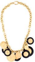 Prada Resin Medallion Chain Necklace