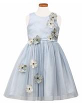 Sorbet Toddler Girl's Flower Applique Tulle Party Dress