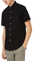 Topman Men's Trim Fit Denim Shirt