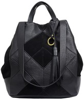 Sanctuary Leather & Suede Modern Patchwork Tote