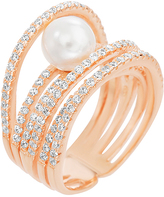 Bliss Pearl & Cubic Zirconia Wrap Ring