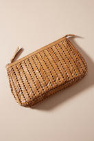Anthropologie Woven Leather Clutch