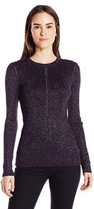 Ellen Tracy Women's Metallic Pointelle Sweater