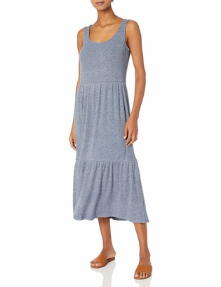 Daily Ritual Amazon Brand Women's Standard-Fit Cozy Knit Rib Tiered Tank Dress