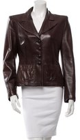 Sonia Rykiel Leather Notched Lapel Blazer