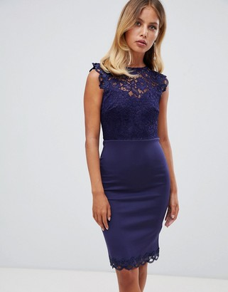 Lipsy Lace Body-Conscious Dress