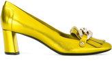 Casadei chain detail fringe trim pumps - women - Leather/Kid Leather - 35.5