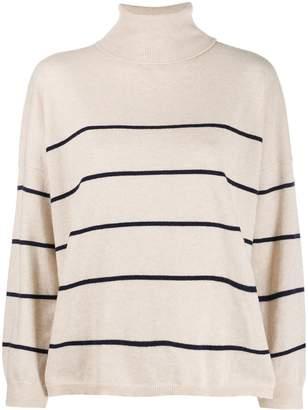 Semi-Couture Semicouture roll-neck striped jumper