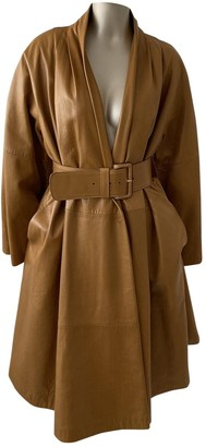 Gianfranco Ferre Camel Leather Coat for Women