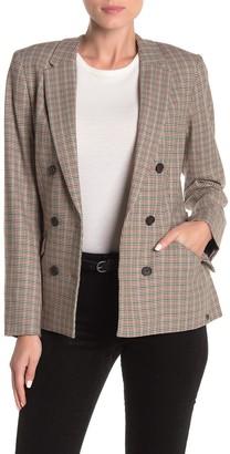 Scotch & Soda Plaid Double Breasted Blazer Jacket