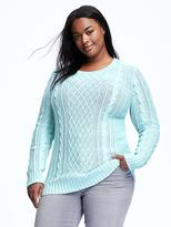 Old Navy Classic Plus-Size Cable-Knit Pullover
