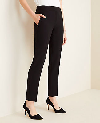 Ann Taylor The Petite Ankle Pant in Doubleweave - Curvy Fit