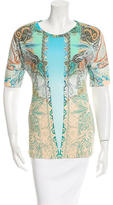 Etro Printed Crew Neck Top