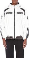 Ueg Caution-print shell jacket