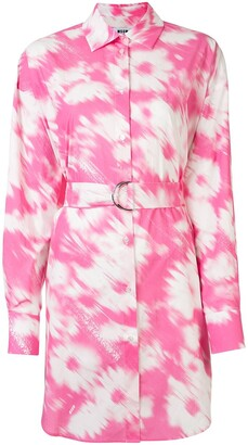 MSGM Tie-Dye Shirt Dress
