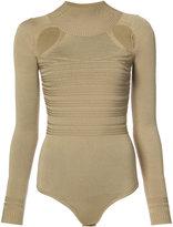 Cushnie et Ochs cut out bodysuit - women - Polyester/Rayon - XS