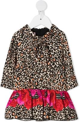 Miss Blumarine Leopard-Print Midi Dress