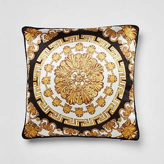 River Island Gold medallion printed cushion cover