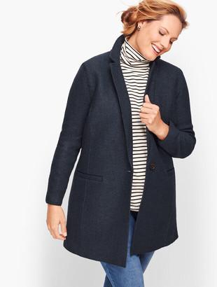 Talbots Plus Size Long Boiled Wool Jacket