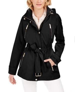 Michael Kors Michael Hooded Water-Resistant Raincoat