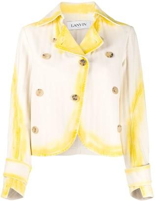 Lanvin Tie-Dye Collared Jacket