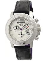 Breed Von Marcus Collection BRD6701 Men's Stainless Steel Watch with Leather Strap