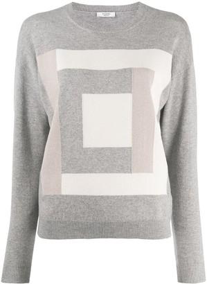 Peserico square motif jumper