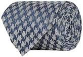 Tom Ford Silk-Linen Houndstooth Tie
