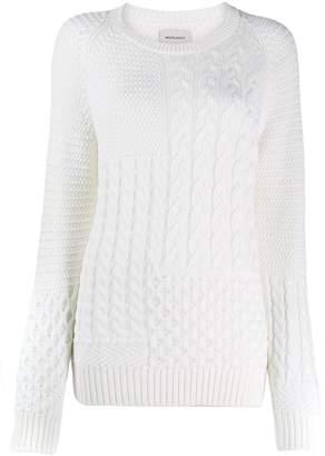 Woolrich asymmetric knit jumper