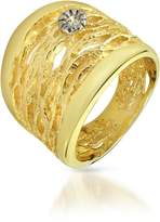Orlando Orlandini Diamond Open-work 18K Yellow Gold Band Ring