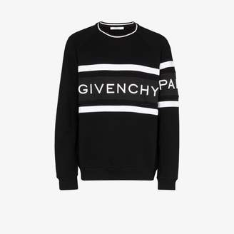 Givenchy logo print crew sweatshirt