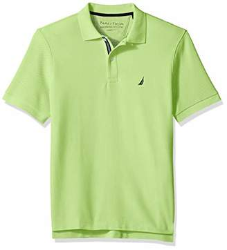 Nautica Men's Classic Fit Short Sleeve Solid Polo Shirt