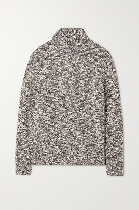 Joseph Merino Wool-blend Boucle Turtleneck Sweater - Gray