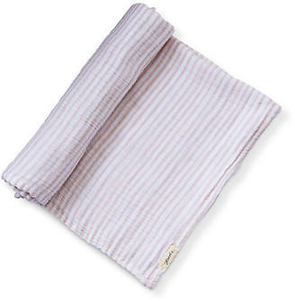 Pehr Stripes Away Cotton Swaddle - Petal