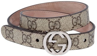 Gucci Gg Supreme Faux Leather Belt