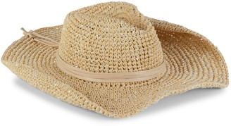 Hat Attack Continental Sequined Straw Cowboy Hat