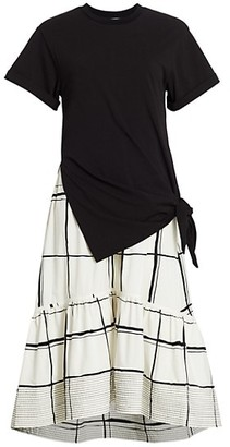 3.1 Phillip Lim Combo Plaid T-Shirt Dress