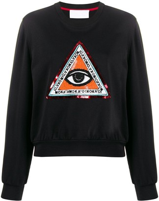 NO KA 'OI Beaded Embroidery Sweatshirt