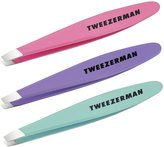 Tweezerman LTD Stainless Steel Mini Slant Tweezer (Colors May Vary)