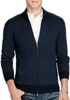 Polo Ralph Lauren Merino Wool Striped Zip Cardigan Sweater