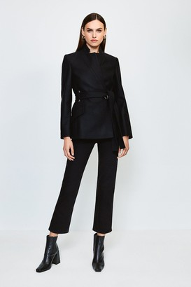 Karen Millen Investment Notch Neck Short Coat