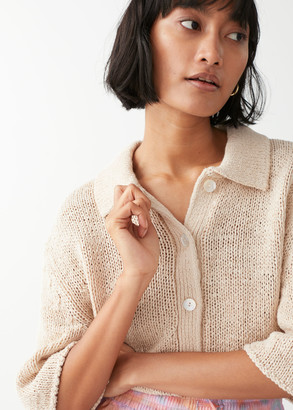 And other stories Boxy Short-Sleeved Cardigan