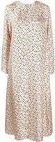 Marni floral back button dress