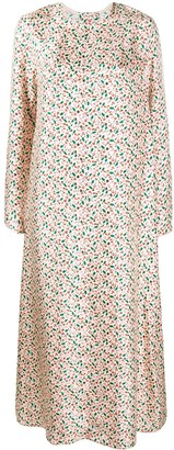 Marni floral back button dress