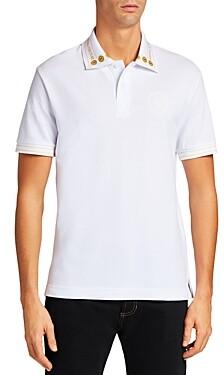Versace Jeans Couture V-Emblem Logo Collar Slim Fit Polo Shirt