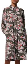 Toast Guan Floral Spun Silk Dress, Multi