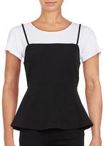 Design Lab Lord & Taylor Mock Layer Peplum T-Shirt