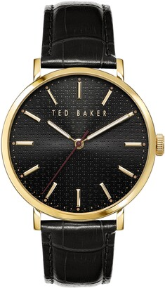 Ted Baker Phylipa Leather Strap Watch, 41mm