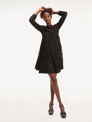 Tommy Hilfiger Jacquard Chiffon Fit & Flare Dress