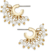 INC International Concepts Catherine Stein for Gold-Tone Imitation Pearl Small Shaky Hoop Earrings, Only at Macy's